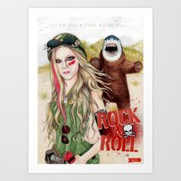 rock n roll Art Prints featuring ROCK N ROLL by ●•VINCE•●