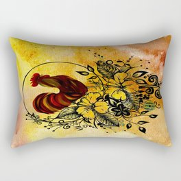 Abstract Acrylic Painting ROOSTER Rectangular Pillow