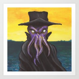 Down by the Seaside - Lovecraftian Art Art Print