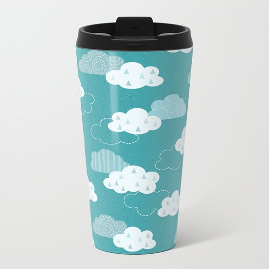 CLOUDY SKY Metal Travel Mug