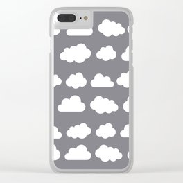 Grey clouds on grey winter skies Clear iPhone Case