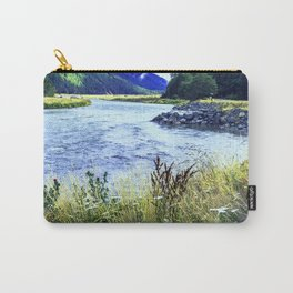 As a River Serpentines Through the Mountains Carry-All Pouch