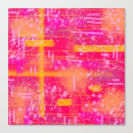 Abstract - Sunset- Laura Wayne Design Canvas Print