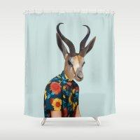 polaroid Shower Curtains featuring Polaroid n°13 by Mrs. Pepper Designs