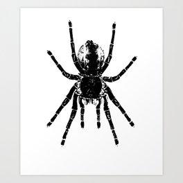 Scary Tarantula Spider Halloween Black Arachnid Graphic Art Print