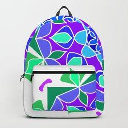 Mandala in blue and green colors Backpack