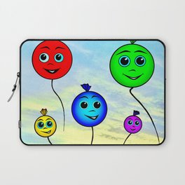 Happy colorful balloons flying in the sky Laptop Sleeve