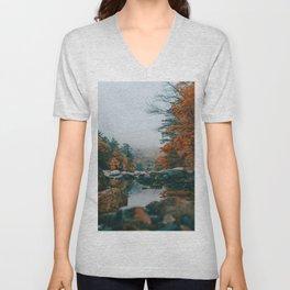 The Autumn Creek (Color) Unisex V-Neck
