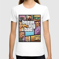 gta v T-shirts featuring Breaking Bad: GTA  by Messypandas