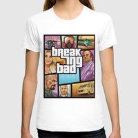 gta T-shirts featuring Breaking Bad: GTA  by Messypandas