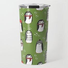 Christmas penguin cute animal pattern winter holiday gifts Travel Mug
