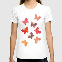 karu kara T-shirts featuring BUTTERFLY SEASON by Daisy Beatrice
