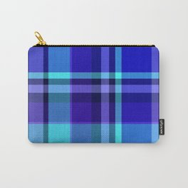Blue Plaid Pattern Carry-All Pouch