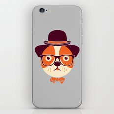 Hipster Dog iPhone & iPod Skin