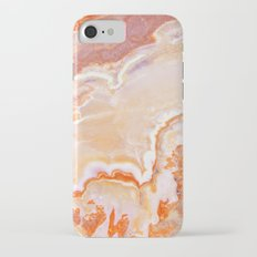 Peach Onyx Marble Slim Case iPhone 7