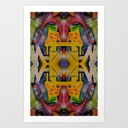 Abstract graffiti 2 Art Print