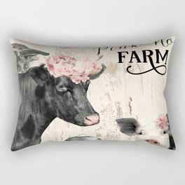 Pink Nose Farm I Rectangular Pillow