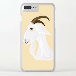 White goat head Clear iPhone Case