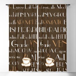 Coffee Cafe Subway Art 1.0 Blackout Curtain
