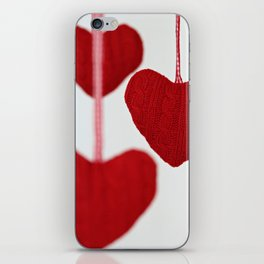 christmas decoration and valentine heart shape iPhone Skin