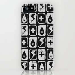 For the love of thunderstorms (dark) iPhone Case
