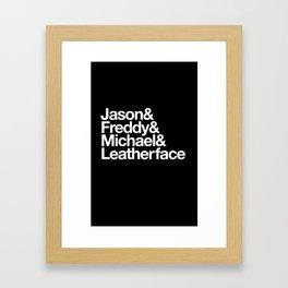 Slashers Framed Art Print