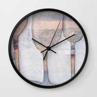 glasses Wall Clocks featuring glasses by friskfisk