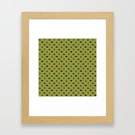 LET'S GO CAMPING, OLIVE Framed Art Print