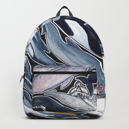 Dolphin, orca, beluga, narwhal & cie Backpack