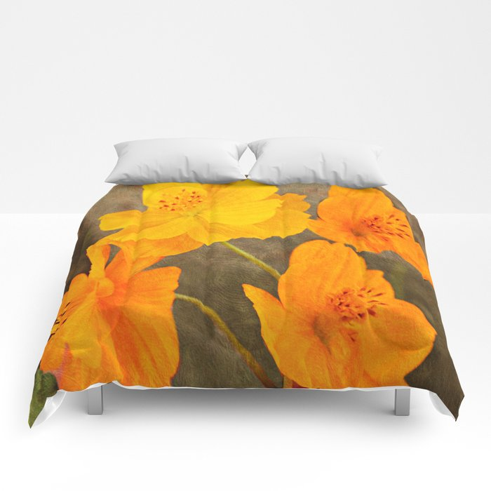 Bright Lights Cosmos Flowers Comforters
