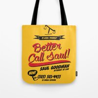 better call saul Tote Bags featuring Better Call Saul by Krikoui