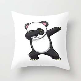 Dabbing Panda Shirt Bear Funny Dab Men Kids Gift Throw Pillow