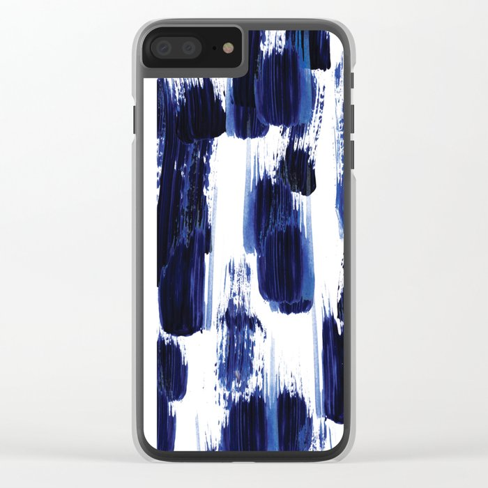 Blue mood Clear iPhone Case