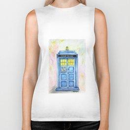 TARDIS watercolor Biker Tank