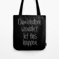 dumbledore Tote Bags featuring Dumbledore by bitobots