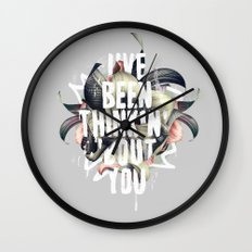 I've been thinkin' 'bout you Wall Clock