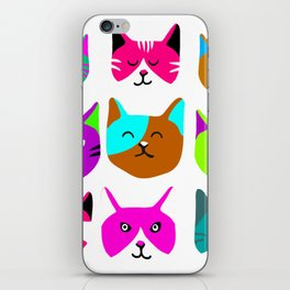 Cat heads iPhone Skin