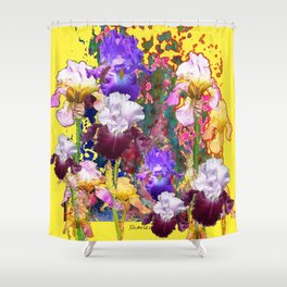 Decorative Blue-Red Spring Yellow & Shower Curtain