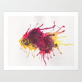 Fish - Golds and Reds. Art Print
