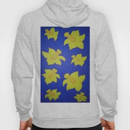 Pop Art Daffodils Blue Hoody
