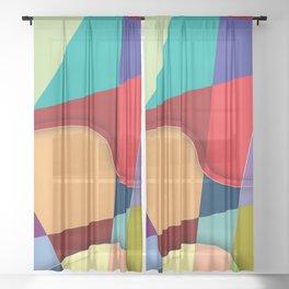 Abstract #303 Sheer Curtain