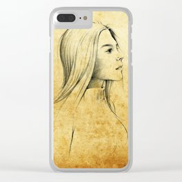 Girl with Nose Pin - 3 Clear iPhone Case