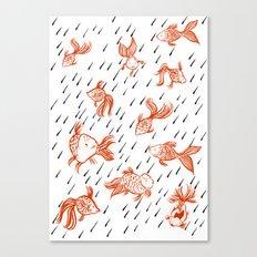 Rainy Fish Canvas Print