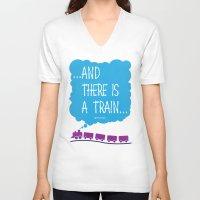 train V-neck T-shirts featuring TRAIN by Alberto Lamote de Grignon