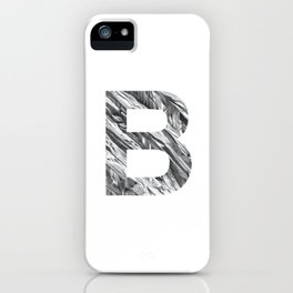The Letter B- Stone Texture iPhone Case