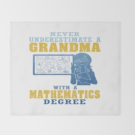 Mathematics Grandma Throw Blanket