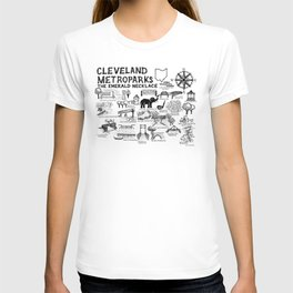 Cleveland Metroparks Map T-shirt