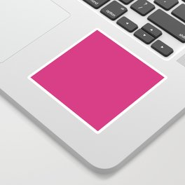 Fuchsia Pink - Solid Color Collection Sticker