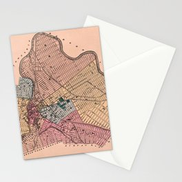 Map Of Paterson 1872 Stationery Cards
