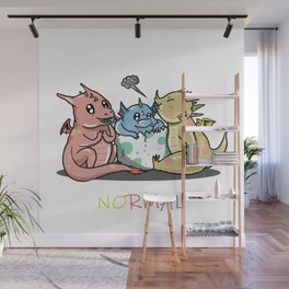 Magical Dragons Autism Awareness Day Autistic Gift Wall Mural